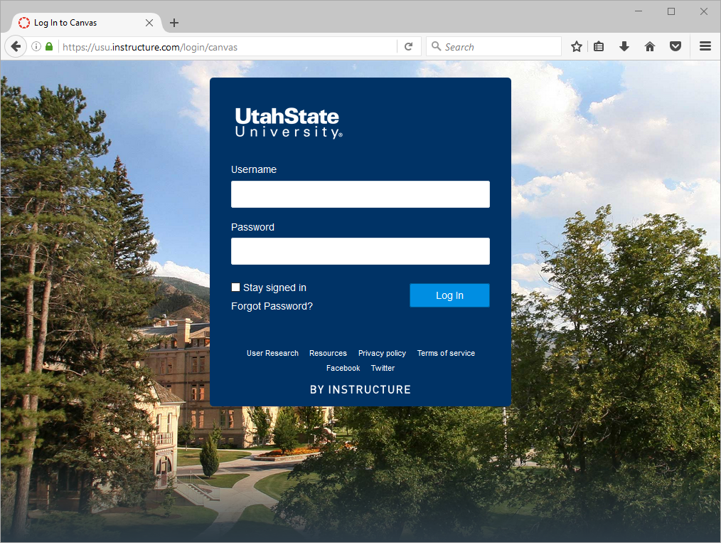 Academic Instructional Services Ais How To Reset Your Canvas Password If You Login With Your Email Address Welcome to utah state university, logan utah. academic instructional services ais