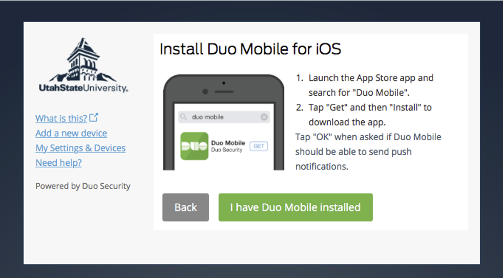 Duo - Two Step Login / Two Factor Authentication - Set up Duo two