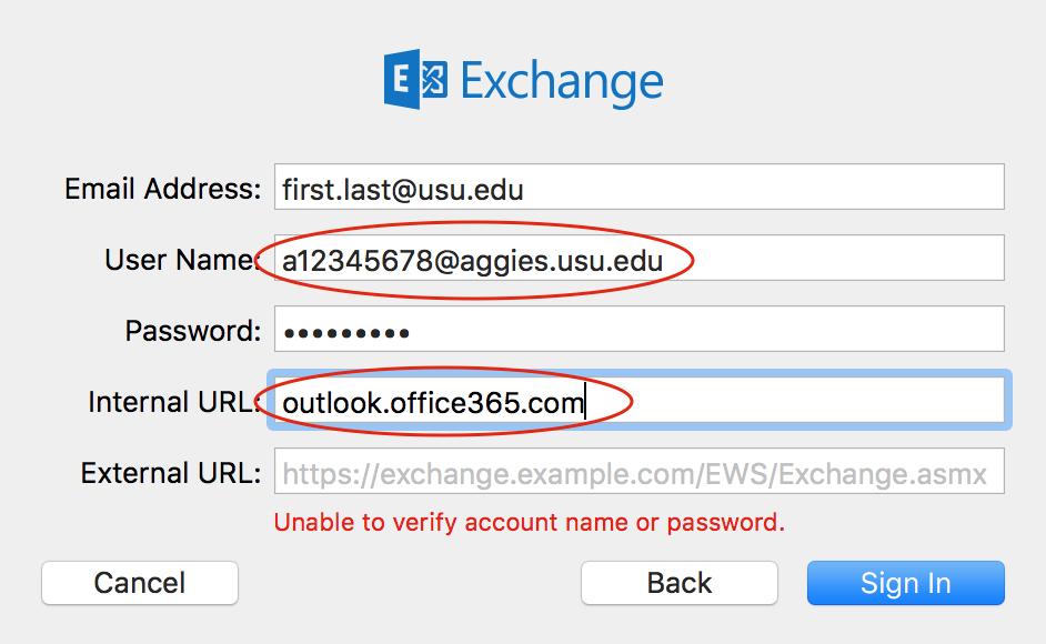 Information Technology - Set up USU edu email account in Mac