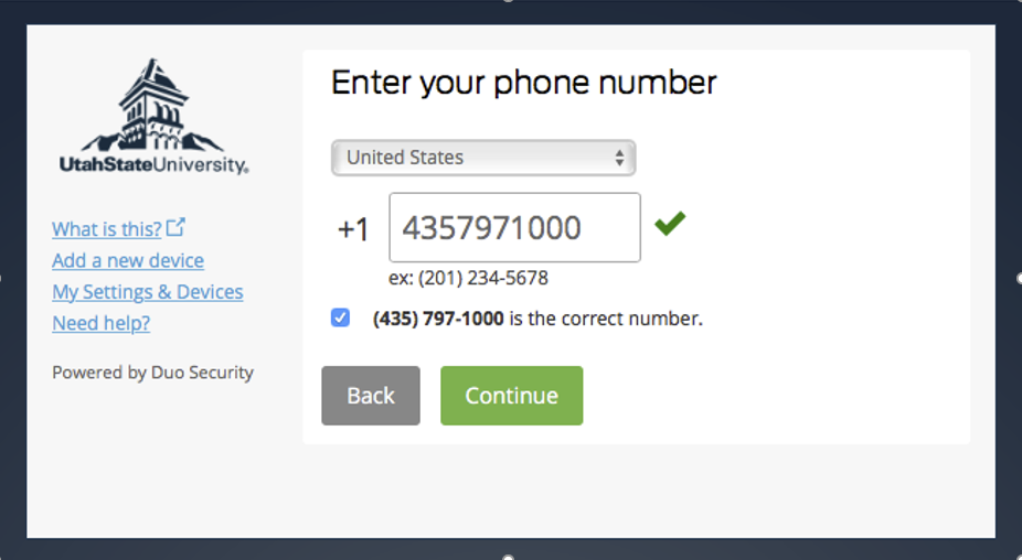 Duo - Two Step Login / Two Factor Authentication - Set up