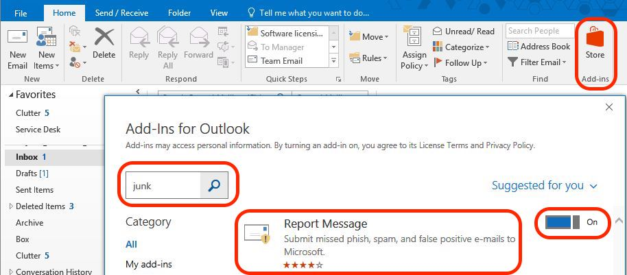 Information Technology - Managing Junk email for Microsoft